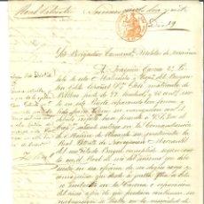Manuscritos antiguos: DOCUMENTO MANUSCRITO, PAPEL SELLADO FISCAL, SELLO JUDICIAL 2 RS., AÑO 1863. REINADO ISABEL II. Lote 263057395