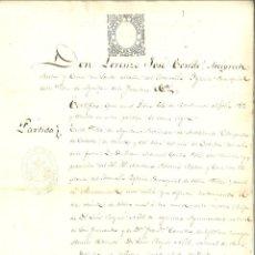 Manuscritos antiguos: DOCUMENTO MANUSCRITO, PAPEL SELLADO FISCAL, SELLO 9º, AÑO 1865. REINADO ISABEL II. Lote 263058825