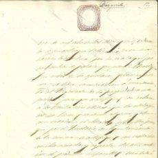 Manuscritos antiguos: DOCUMENTO MANUSCRITO, PAPEL SELLADO FISCAL, SELLO JUDICIAL 6 RS., AÑO 1865. REINADO ISABEL II. Lote 263059655