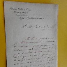 Manuscritos antiguos: ANTIGUA CARTA.FRANCISCO TOBAR Y VITON.NOTARIO Y ABOGADO MADRIS 1902.. Lote 263206440