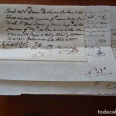 Manuscrits anciens: ONTENIENTE, VALENCIA, 1817, 18 RECIBOS A FAVOR DEL BARÓN DE SANTA BÁRBARA, CONVENTOS, TRABAJOS. Lote 263675140