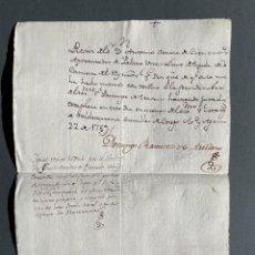 Manuscrits anciens: 1789 - RECIBO DE UNA LLAVE DE GENTIL HOMBRE DE CÁMARA DE SU MAJESTAD -. Lote 263708780