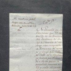 Manuscritos antigos: 1803 - JOSÉ DE GODOY - SOBRE LA ESCRIBANÍA DE LA VILLA DEL VALLE, PROPIEDAD DEL DUQUE DEL PARQUE. Lote 263872270