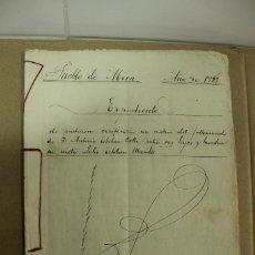 Manuscritos antiguos: ESCRITURA EN MIRA - CUENCA AÑO 1923 - 10 FOLIOS MUY BIEN CONSERVADOS. REF.33. Lote 264333800