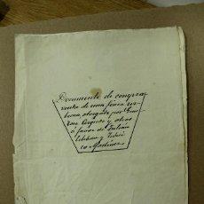 Manuscritos antiguos: ESCRITURA EN MIRA - CUENCA AÑO 1888 - 7 FOLIOS MUY BIEN CONSERVADOS. REF.19. Lote 264336748