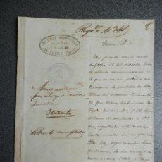 Manuscrits anciens: ESCLAVITUD CUBA - AVERIGUACIONES SOBRE EL BAUTISMO DE UN ESCLAVO NEGRO - CUBA AÑO 1863. Lote 264503729