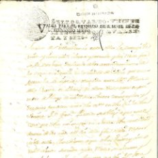 Manuscrits anciens: DOCUMENTO MANUSCRITO, PAPEL SELLADO FISCAL, SELLO 4º, AÑO 1746 HABILITADO FERNANDO VI. 20 MARAVEDIS.. Lote 264568334