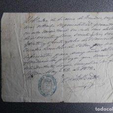 Manuscritos antiguos: MANUSCRITO AÑO 1872 SILLEDA TIMBROLOGÍA PROTEGER LOS PLIEGOS QUE SE ENVÍAN POR CORREO - RARO. Lote 264972809
