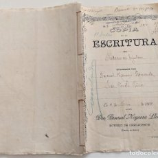 Manuscritos antiguos: CARCAGENTE (VALENCIA) - ESCRITURA CON UN SELLO FISCAL 7ª CLASE Y UN SELLO FISCAL 11ª CLASE AÑO 1905. Lote 265488089
