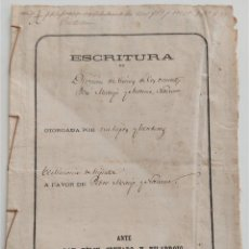 Manuscritos antiguos: CASTELLÓN DE LA PLANA - ESCRITURA CON UN SELLO FISCAL 5º Y UN SELLO FISCAL 11ª CLASE AÑO 1979. Lote 265488784