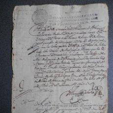 Manuscrits anciens: MANUSCRITO AÑO 1696 FISCAL 4º IZNALLOZ GRANADA CONDENA PAGO COSTAS JUDICIALES. Lote 265724394