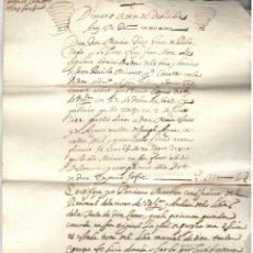 Manuscrits anciens: DOCUMENTO ESCRITO EN VALENCIANO - SIGLO XVII - SELLO ESCUDO DE VALENCIA. Lote 266809994