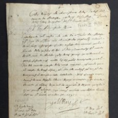 Manoscritti antichi: AÑO 1593 - MANUSCRITO - ORDEN DE MONTESA - FIRMA DE FELIPE II - TEMPLARIOS. Lote 267064579