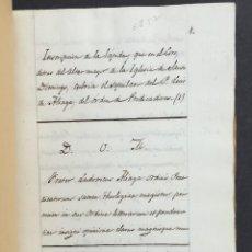 Manoscritti antichi: MANUSCRITO - INQUISICIÓN - PADRE ALIAGA - MOSQUERUELA - TERUEL - HISTORIA - INQUISIDOR GENERAL. Lote 267064829
