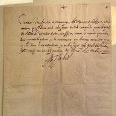Manuscritos antiguos: INFANTA ISABEL CLARA EUGENIA. HIJA FELIPE II. FIRMA REAL OLÓGRAFA. TERCIOS DE FLANDES. BRUSELAS 1629. Lote 267118009
