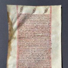 Manoscritti antichi: XVI - MANUSCRITO SOBRE PERGAMINO - CÓDICE - CALIGRAFIA - VITELA -. Lote 267165174