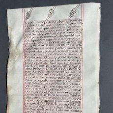 Manoscritti antichi: XVI - MANUSCRITO SOBRE PERGAMINO - CÓDICE - CALIGRAFIA - VITELA -. Lote 267165189