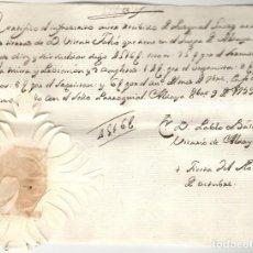 Manoscritti antichi: DOCUMENTO DEL VICARIO DE ALDAYA - VALENCIA - PAGO SERVICIOS RELIGIOSOS - SELLO PARROQUIAL - AÑO 1759. Lote 267309674