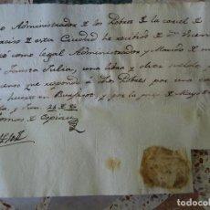 Manoscritti antichi: VALENCIA CÁRCEL SAN NARCISO, RECIBO CENSO HUERTO BURJAROZ. Lote 268034994