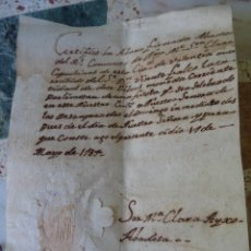 Manuscrits anciens: VALENCIA RECIBO ABADESA REAL CONVENTO SANTA CLARA CAPUCHINAS, FIESTA DESAMPARADAS, 1784, SELLO. Lote 268036794