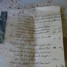 Manuscrits anciens: VALENCIA RECIBO HONORARIOS PLEITOS VICENTE FALCÓ. Lote 268039939