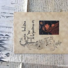 Manuscrits anciens: FACSÍMIL DE CARTA BULADA DE ALEJANDRO VI AL ARZOBISPO DE TOLEDO. Lote 268148979