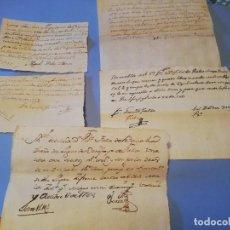 Manuscrits anciens: 5 RECIBOS DEL BARON VICENTE FALCO BELAOCHAGA BENIFAYO BENIFAIO VALENCIA 1775 1761 1764 1768 1763. Lote 268450514
