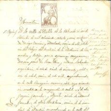 Manuscritos antigos: AÑO 1871. SELLO 6º DE 4 PTAS. DOCUMENTO MANUSCRITO, PAPEL SELLADO FISCAL. REINADO AMADEO I. Lote 268963824