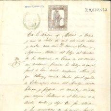 Manuscritos antigos: AÑO 1874. SELLO 6º DE 4 PTAS. DOCUMENTO MANUSCRITO, PAPEL SELLADO FISCAL. 1ª REPÚBLICA. Lote 268965669