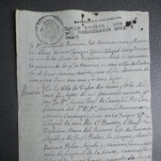 Manoscritti antichi: MANUSCRITO AÑO 1818 ZAFRA BADAJOZ FISCAL OFICIO CERTIFICADO BAUTISMO. Lote 268977039