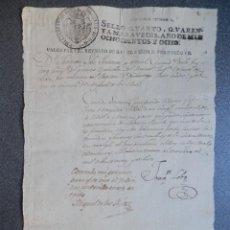 Manoscritti antichi: MANUSCRITO AÑO 1808 FISCAL 4º HABILITADO REINADO FERNANDO VII PERMISO MILITAR. Lote 269008374
