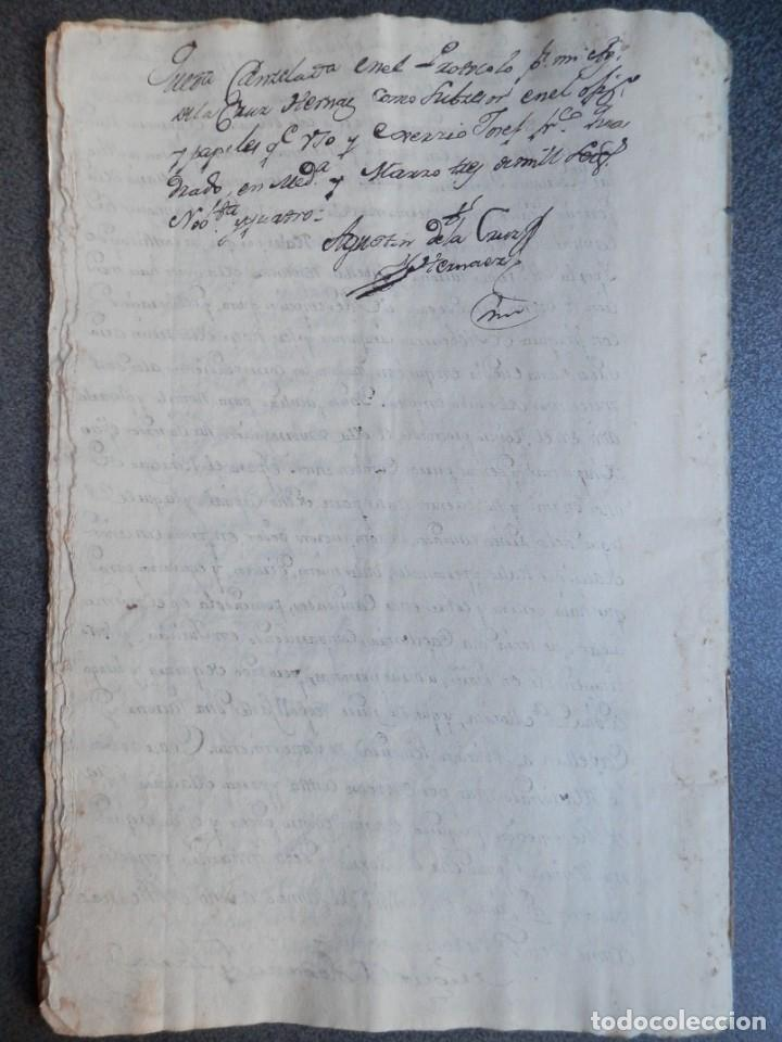 Manuscritos antiguos: MANUSCRITO AÑO 1735 FISCALES 2º RARO Y LUJO MEDINA DEL CAMPO VALLADOLID CENSO REDIMIDO 18 PAGS - Foto 4 - 269028354