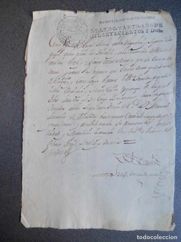 MANUSCRITO AÑO 1702 FISCAL OFICIO RARO Y LUJO VALLADOLID CARTA DE PAGO (Coleccionismo - Documentos - Manuscritos)