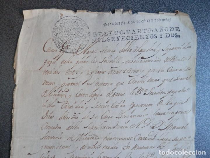 Manuscritos antiguos: MANUSCRITO AÑO 1702 FISCAL OFICIO RARO Y LUJO VALLADOLID CARTA DE PAGO - Foto 2 - 269028739