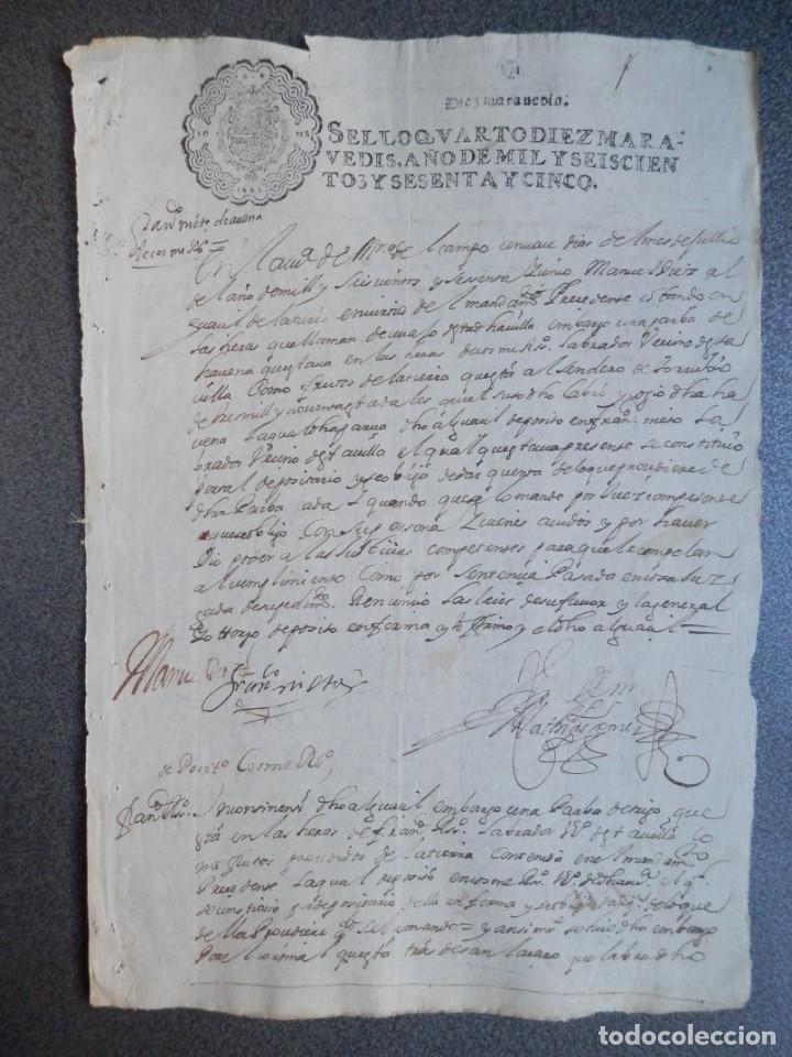 MANUSCRITO AÑO 1665 FISCAL 4º LUJO MEDINA DEL CAMPO VALLADOLID ACTUACIONES JUDICIALES (Coleccionismo - Documentos - Manuscritos)