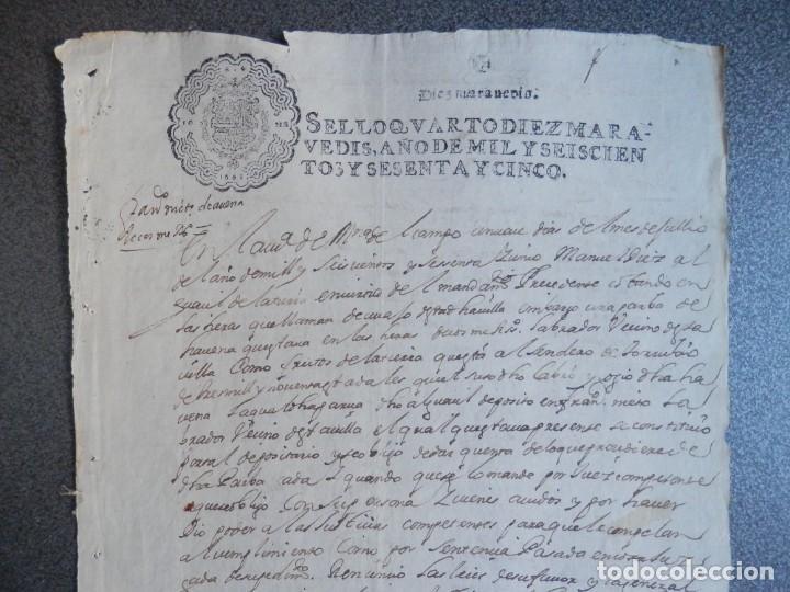 Manuscritos antiguos: MANUSCRITO AÑO 1665 FISCAL 4º LUJO MEDINA DEL CAMPO VALLADOLID ACTUACIONES JUDICIALES - Foto 2 - 269029374