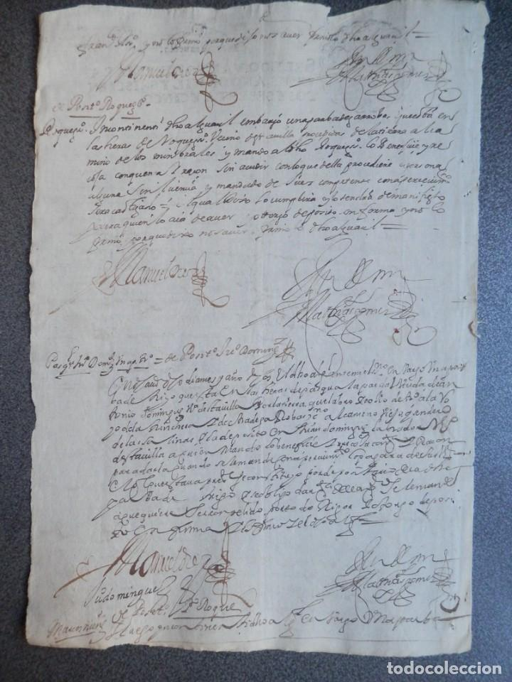 Manuscritos antiguos: MANUSCRITO AÑO 1665 FISCAL 4º LUJO MEDINA DEL CAMPO VALLADOLID ACTUACIONES JUDICIALES - Foto 3 - 269029374