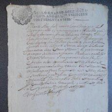 Manuscritos antiguos: MANUSCRITO AÑO 1666 FISCAL 4º LUJO MEDINA DEL CAMPO VALLADOLID NOTIFICACIÓN JUDICIAL. Lote 269031279