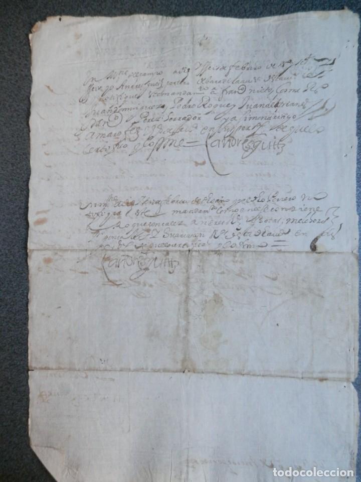 Manuscritos antiguos: MANUSCRITO AÑO 1666 FISCAL 4º LUJO MEDINA DEL CAMPO VALLADOLID NOTIFICACIÓN JUDICIAL - Foto 3 - 269031279