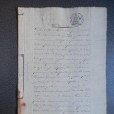 Manuscritos antiguos: MANUSCRITO AÑO 1858 FISCALES 4ºS CAÑETE CUENCA VENTA DE TIERRAS 5 PÁGS.. Lote 269031717