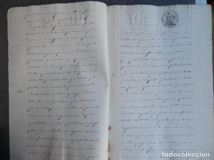Manuscritos antiguos: MANUSCRITO AÑO 1858 FISCALES 4ºS CAÑETE CUENCA VENTA DE TIERRAS 5 PÁGS. - Foto 2 - 269031717