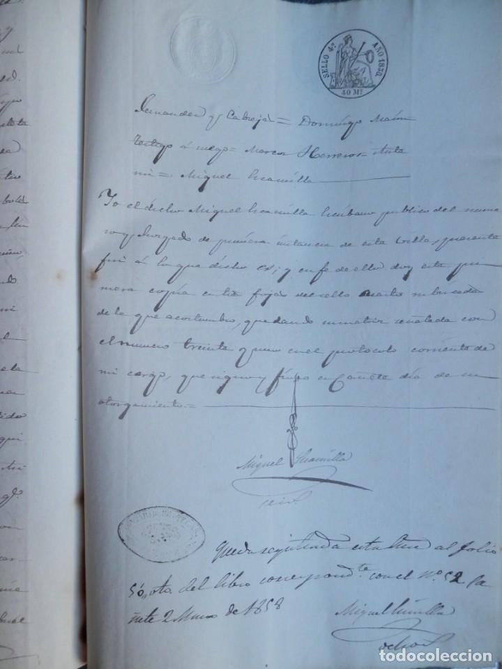 Manuscritos antiguos: MANUSCRITO AÑO 1858 FISCALES 4ºS CAÑETE CUENCA VENTA DE TIERRAS 5 PÁGS. - Foto 3 - 269031717