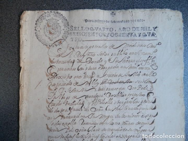 Manuscritos antiguos: MANUSCRITO AÑO 1684 FISCALES POBRES MUY RAROS Y LETRAS N INVERTIDAS RONDA MÁLAGA ALCALDE - Foto 2 - 269032135