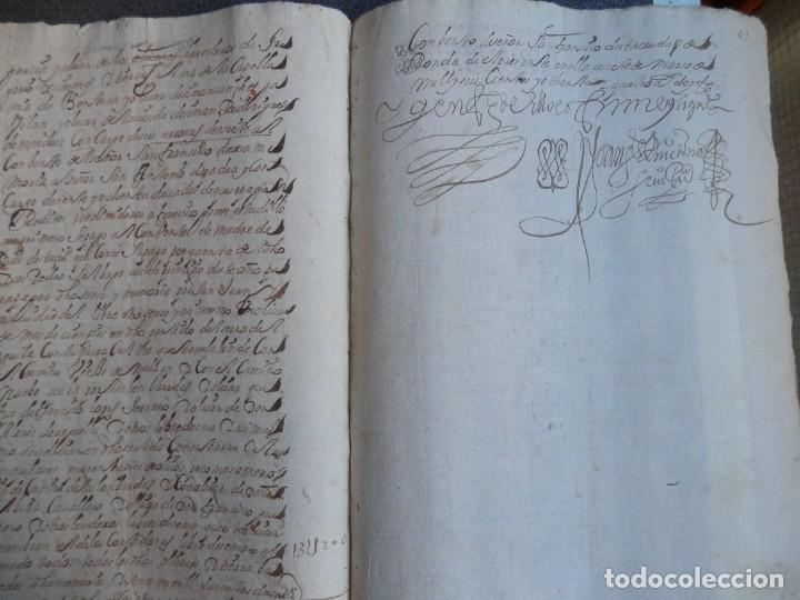 Manuscritos antiguos: MANUSCRITO AÑO 1684 FISCALES POBRES MUY RAROS Y LETRAS N INVERTIDAS RONDA MÁLAGA ALCALDE - Foto 3 - 269032135