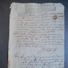Manuscritos antiguos: MANUSCRITO AÑO 1721 FISCAL OFICIOS RONDA MÁLAGA PLEITO CONVENTO SAN FRANCISCO. Lote 269032899