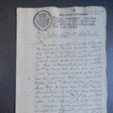 Manuscritos antiguos: MANUSCRITO AÑO 1804 FISCAL 3º ALCAÑIZ TERUEL - PODER PARA PLEITOS. Lote 269040863