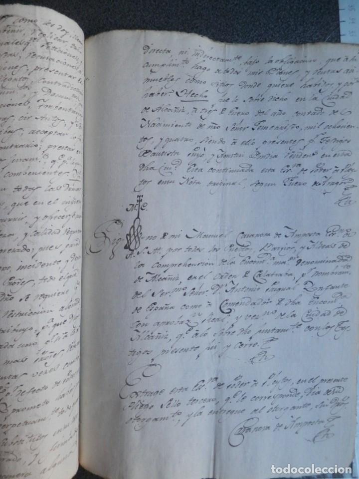 Manuscritos antiguos: MANUSCRITO AÑO 1804 FISCAL 3º ALCAÑIZ TERUEL - PODER PARA PLEITOS - Foto 3 - 269040863