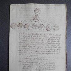 Manuscritos antiguos: LOTE MANUSCRITOS AÑOS 1830-48 VILASANTAR A CORUÑA PARTICIÓN BIENES 12 PÁGINAS. Lote 269165623