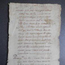 Manuscritos antiguos: MANUSCRITO SIGLO XVIII MOLINA DE ARAGÓN Y ANCHUELA GUADALAJARA BIENES CONVENTO SANTA CLARA. Lote 269167493