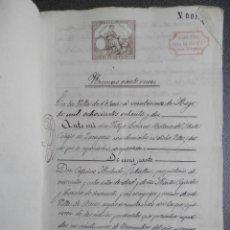 Manuscritos antiguos: MANUSCRITO AÑO 1882 FISCALES 4º Y 11º HABILITADOS ATECA ZARAGOZA ESCRITURA PRÉSTAMO 10 PÁGS. Lote 269167753
